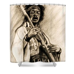 Hendrix-antique Tint Version Shower Curtain