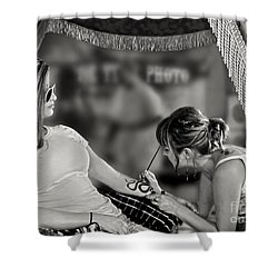 Shower Curtain featuring the photograph Henna At The Fair by Jennie Breeze