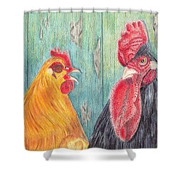 Henpecked Shower Curtain