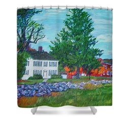 Henry Warren House And Barn Shower Curtain
