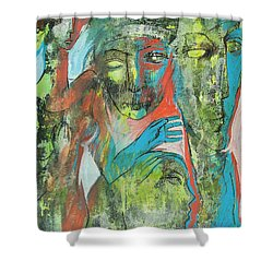 Her Avatars Shower Curtain by Floria Varnoos