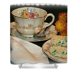 Her Best China Shower Curtain by Barbara S Nickerson