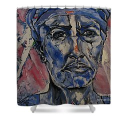 Her Convictions - Portriat Shower Curtain