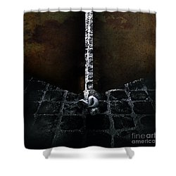 Her Fears Shower Curtain by Stelios Kleanthous