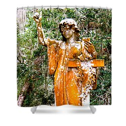 Shower Curtain featuring the photograph Her Guardian Angel by Joy Hardee