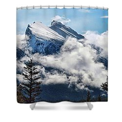 Her Majesty - Canada's Mount Rundle Shower Curtain