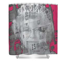 Her Majesty Queen Elisabeth Shower Curtain by PainterArtist FIN