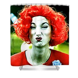 Shower Curtain featuring the painting Her Name Is Li . . .  by Luis Ludzska