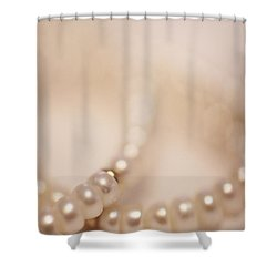 Her Pearls Shower Curtain by Trish Mistric