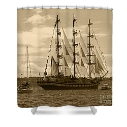 Her Russian Backside Pallada Shower Curtain by Kym Backland