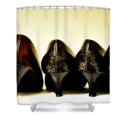 Her Shoes Shower Curtain by Bill Cannon