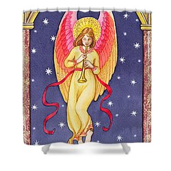 Herald Angel Shower Curtain by Lavinia Hamer