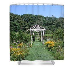Shower Curtain featuring the photograph Herb Garden by Karen Silvestri