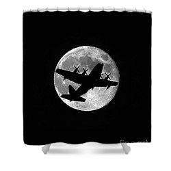 Hercules Moon Vertical Shower Curtain