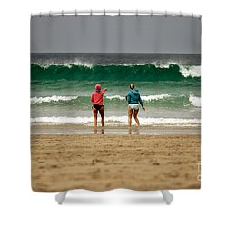 Shower Curtain featuring the photograph Here Comes The Big One by Terri Waters