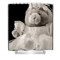 Here Comes The Bride Shower Curtain by Edward Fielding