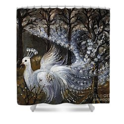 Here Comes The Mist Shower Curtain by Angel  Tarantella
