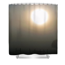 Here Comes The Sun  Shower Curtain by Juls Adams