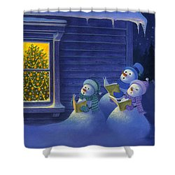 Here We Come A Caroling Shower Curtain