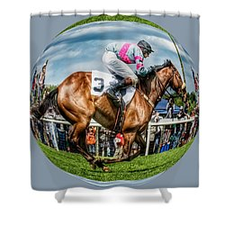 Here We Go Round In Circles Shower Curtain
