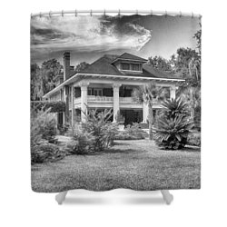 Shower Curtain featuring the photograph Herlong Mansion by Howard Salmon