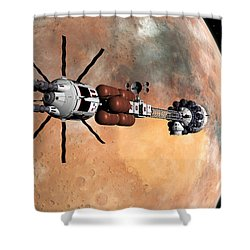 Hermes1 Mars Insertion Part 1 Shower Curtain by David Robinson