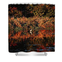 Heron Hideaway Shower Curtain