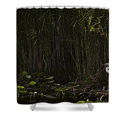 Heron In Grass Shower Curtain