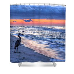 Heron On Mobile Beach Shower Curtain