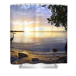 Heron Sunrise Shower Curtain