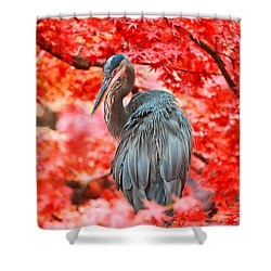 Heron Wonderland Shower Curtain by Douglas Barnard