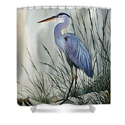 Herons Sheltered Retreat Shower Curtain