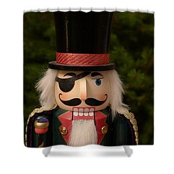 Herr Drosselmeyer Nutcracker Shower Curtain by Richard Reeve