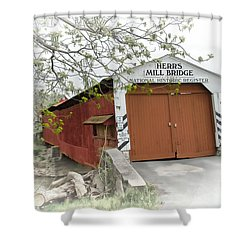 Herr's Mill Historic Bridge Shower Curtain