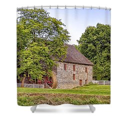 Shower Curtain featuring the photograph Herr's Mill by Jim Thompson