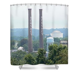 Hershey Smoke Stacks Shower Curtain by Michael Porchik