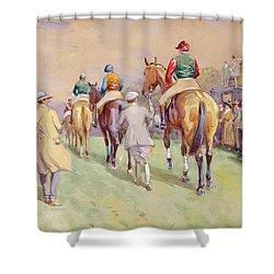Hethersett Steeplechases Shower Curtain by John Atkinson