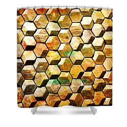 Hexacubes Shower Curtain
