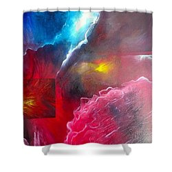 HEY Shower Curtain by Carrie Maurer