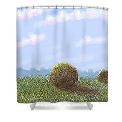Hey I See Hay Shower Curtain by Stacy C Bottoms