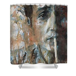 Hey Mr Tambourine Man Shower Curtain by Paul Lovering