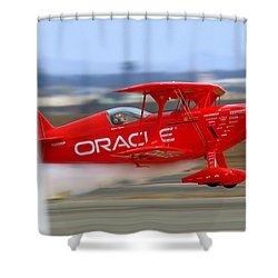 Hi Speed Low Pass By Sean Tucker At Salinas Ksns Air Show Shower Curtain