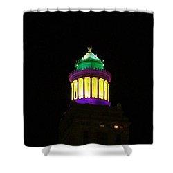 Hibernia Tower - Mardi Gras Shower Curtain