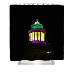 Hibernia Tower - Mardi Gras Shower Curtain by Deborah Lacoste