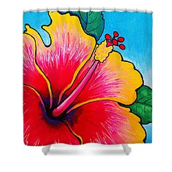 Hibiscus 01 Shower Curtain