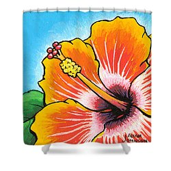 Hibiscus 04 Shower Curtain