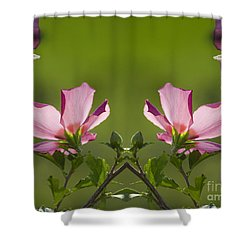 Hibiscus 07 Mirror Image Shower Curtain by Thomas Woolworth