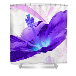 Hibiscus - After The Rain - Photopower 754 Shower Curtain by Pamela Critchlow