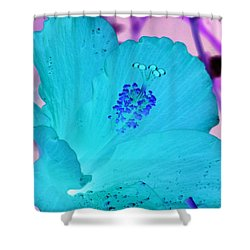 Hibiscus - After The Rain - Photopower 760 Shower Curtain by Pamela Critchlow