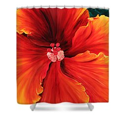Shower Curtain featuring the painting Hibiscus by Melinda Cummings
